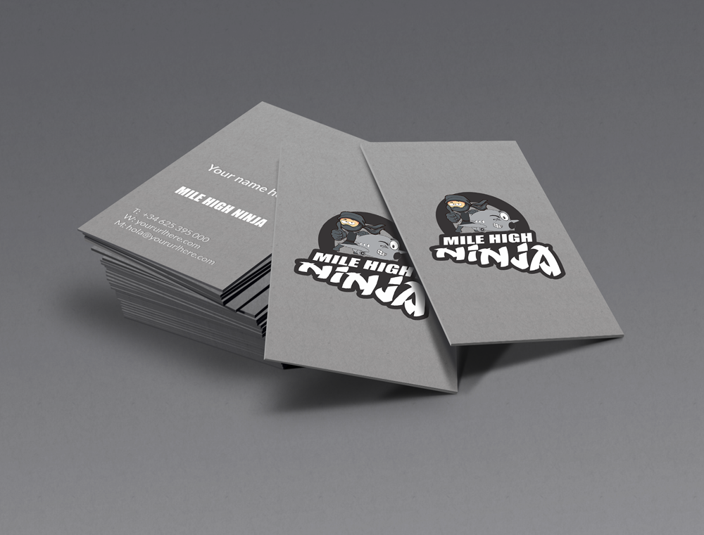 Mile High Ninja Sample #1 Business cards